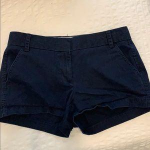 J Crew Navy Blue Chino Shorts